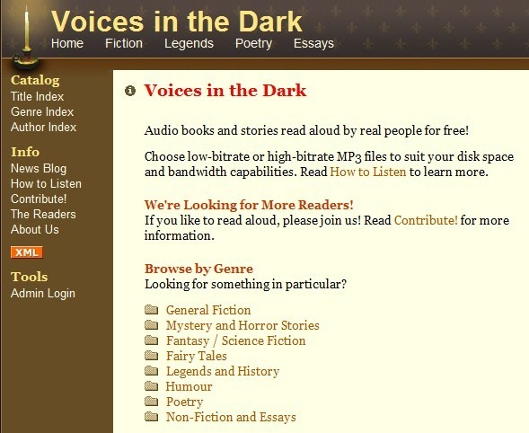 Voices in the Dark logo